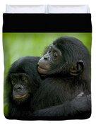 Bonobo Orphans Hugging Duvet Cover
