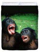 Bonobo Pan Paniscus Juvenile Pair Duvet Cover