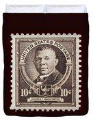 Booker T Washington Postage Stamp Duvet Cover