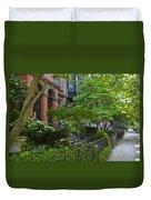 Boston Beacon Hill Street Scenery Duvet Cover