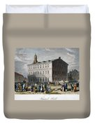 Boston: Faneuil Hall, 1776 Duvet Cover