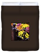 Boston Flowers Duvet Cover