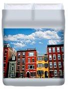 Boston Houses Duvet Cover