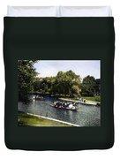 Boston: Swan Boats, C1900 Duvet Cover