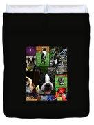 Boston Terrier Photo Collage Duvet Cover