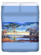 Botswana Watering Hole Duvet Cover