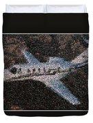 Bottle Cap Cessna Citation Mosaic Duvet Cover