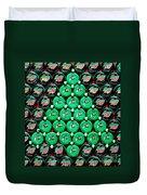 Bottle Caps Christmas Tree Duvet Cover