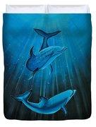 Bottle-nose Dolphins Duvet Cover