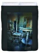 Bottle On Table In Abandoned House Duvet Cover
