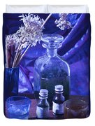 Bottles Of Perfume Essence  Duvet Cover