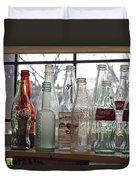 Bottles On The Shelf Duvet Cover