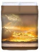 Boulder Colorado Flagstaff Fire Sunset View Duvet Cover