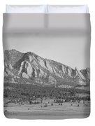 Boulder Colorado Flatiron Scenic View With Ncar Bw Duvet Cover