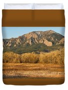 Boulder Colorado Flatiron View From Jay Rd Duvet Cover