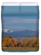 Boulder County Colorado Continental Divide Autumn View Duvet Cover