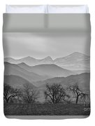 Boulder County Layers Bw Duvet Cover
