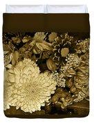 Bouquet In Sepia Duvet Cover