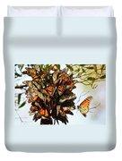 Bouquet Of Butterflies Duvet Cover