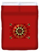 Bouquet Of Roses Kaleidoscope 8 Duvet Cover