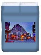 Bourbon Street In The Quiet Hours Duvet Cover