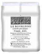 Bourgeois Gentilhomme Duvet Cover