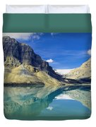 Bow Lake,alberta,canada Duvet Cover