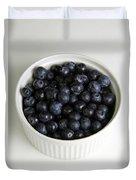 Bowl Of Blueberries Duvet Cover