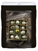 Box Of Quail Eggs Duvet Cover