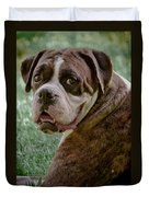 Boxer Smiles Duvet Cover by DigiArt Diaries by Vicky B Fuller