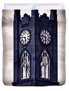 Boyertown Clock Tower Duvet Cover