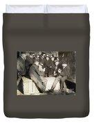 Boys Playing Poker, 1909 Duvet Cover