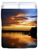 Braden River Sunset Duvet Cover