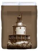 Brandywine Shoal Lighthouse Duvet Cover