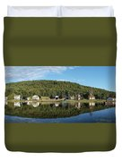 Brant Lake Reflections Duvet Cover