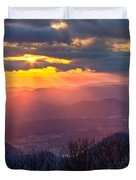 Brasstown Sunset Duvet Cover by Debra and Dave Vanderlaan