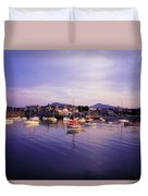 Bray Harbour, Co Wicklow, Ireland Duvet Cover