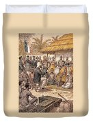 Brazza In Africa, 1880 Duvet Cover