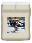 Bread On A Bicycle Duvet Cover