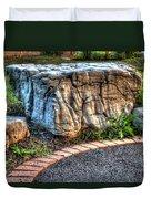 Brenda's Boulder At Dawn Or Altar In The Garden Duvet Cover