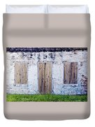 Brick And Wooden Building Duvet Cover