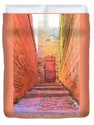 Old Stairs - Bisbee Az Duvet Cover