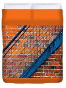 Bricks And Steel Duvet Cover