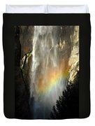 Bridal Veil Rainbow Duvet Cover
