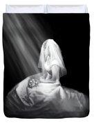 Bride In Cascading Light Duvet Cover