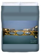 Bridge In Florence Duvet Cover
