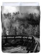 Bridge In Mud Volcano Area Duvet Cover