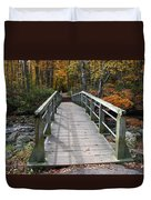 Bridge Into Autumn Duvet Cover