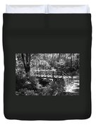 Bridge Of Centralpark In Black And White Duvet Cover