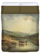 Bridge Over The Usk Duvet Cover